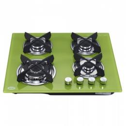 Nesta Glass Gas Hob QB4095T – Green