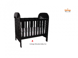 Vita Cottage wooden Baby-Cot 4FT X 2FT - deluxe.com.ng