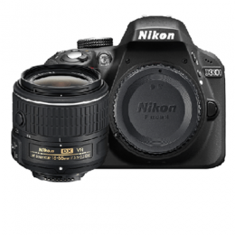 Nikon D3300 DSLR Camera with 18-55mm Lens – Black