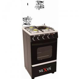 Nexus Gas Cooker Black (4+0) GCCR-NX-5055B
