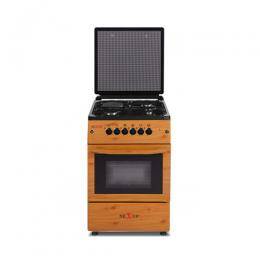 NX-6004 (3+1) GAS COOKER -WOOD FINISH