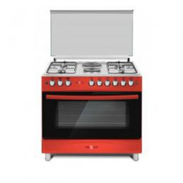 NX-9004 (4+2) GAS COOKER -WINE RED