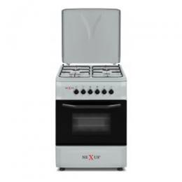 NX-6003 (4+0) BS GAS COOKER -SILVER FINISH