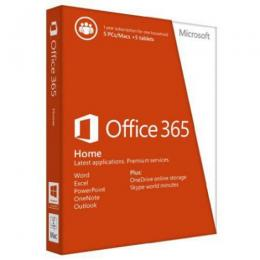 Microsoft OFFICE 365 Home English Subscr 1YR Africa Only Medialess P2