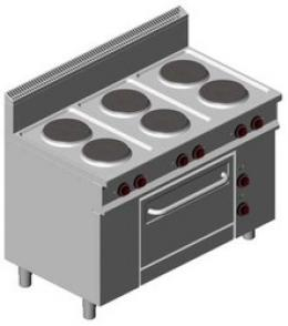 Offcar Cte716 Elect. Cooker (6 Round Plates + Elect. Oven)
