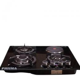 Phiima 3 Gas 1 Electric Hob