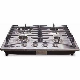 Phiima 60 Cm Stainless Steel 4-Burner Gas Cooker