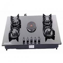 Phiima Elegans Cooker 70cm Built-in 4 Burner & Hot Plate - Black