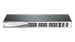 24-Port 10/100Mpbs PoE Smart Switch with 4 1000BaseT Copper SKU DES-1210-28P - deluxe.com.ng