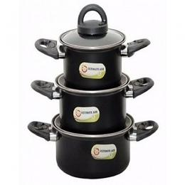 Ultimate Ash 3Pcs Non Stick Pot Set
