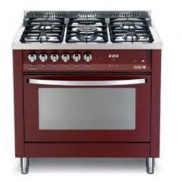 SCANFROST PRG96G2G - 90X60 CMS 5 BURNERS SEMI PROFESSIONAL GAS COOKER|BURGUNDY RED|PEARL BLACK|SHINEY INOX