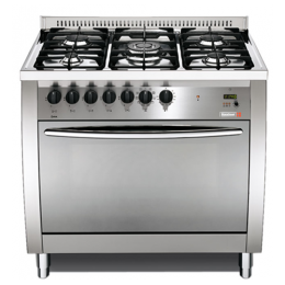 SCANFROST PRG96G2G/CI - 90X60 CMS 5 BURNERS SEMI PROFESSIONAL GAS COOKER|SHINEY INOX