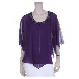 Purple Poncho Blouse