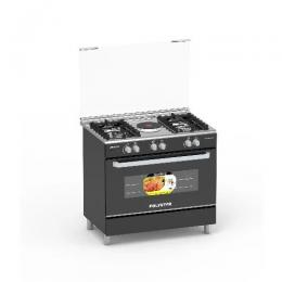 Polystar 4 Gas Burner + 1 Hotplate Gas Cooker With Grill - Pvnd-bl950g1