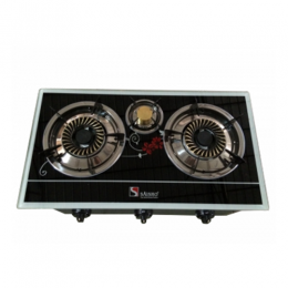 S-306BF THREE BURNER GAS STOVE -BLACK FLORAL