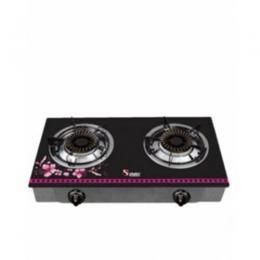S-305BF DOUBLE BURNER GAS STOVE -BLACK FLORAL