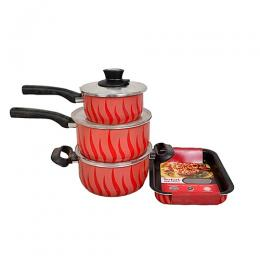 Tefal 4pcs Set Of Tempo Flame 20cm,20cm,16cm