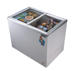 SCANFROST SFCH 100 GLASS TOP DISPLAY FREEZER