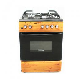SCANFROST CK-6312 NG - 60X60 CMS, WOOD FINISH, 3 GAS BURNERS 1 HOT PLATES, GAS OVEN + GRILL + TURNSPIT