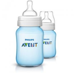 Philips Avent Classic+ baby bottle SCF565/62 2 Bottles 9oz/260ml Slow flow nipple 1m+|SCF565/62 (DT)