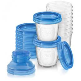 Philips Avent Breast milk storage cups SCF618/10 Set|SCF618/10
