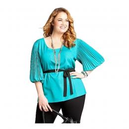 Ink Blue Cold Shoulder Shirt
