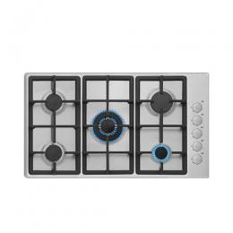 SCANFROST SFC640B 60CM HOB INOX BODY ENAMEL COATED GRIDS AUTO IGNITION FROM KNOBS