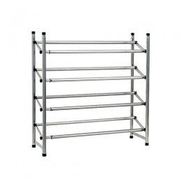 Le Decor 4-tier Expandable Shoe Rack - Silver