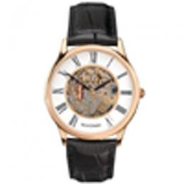 SEKONDA SK1203 MEN'S BLACK LEATHER SKELETON DIAL SMALL SIZE WATCH