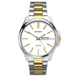 SEKONDA SK1439 MEN'S TWO-TONE STAINLESS STEEL MEDIUM CASE WATCH
