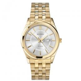SEKONDA SK3450 MEN'S GOLD STAINLESS STEEL SILVER DIAL SMALL SIZE WATCH