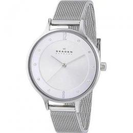 SKAGEN SKW2149 WOMEN'S ANITA SILVER DIAL STAINLESS STEEL MESH MEDIUM WATCH