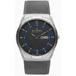 SKAGEN SKW6078 MEN'S MELBYE GREY DIAL STAINLESS STEEL MESH WATCH