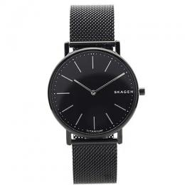 SKAGEN SKW6484 MEN'S SIGNATUR SLIM TITANIUM BLACK STEEL-MESH MEDIUM WATCH