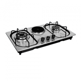 TEC Stainless Steel Cooker with 2 Gas and 1 Electric (built-in) Burner