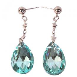 Stainless Sea Blue Droping Earing
