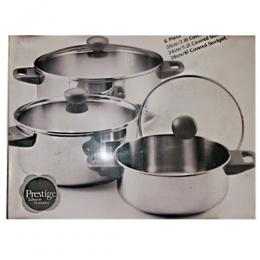 Prestige 6pc stockpot covered caserrole s/s