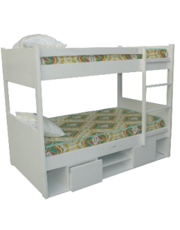 STORAGE WOODEN BUNK BED (3 X 6FT) - deluxe.com.ng