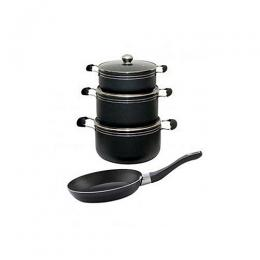 Sumo Premium Non-stick Pot Set With Frypan Extra - 4 Pieces