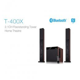 F D T400X Full Wooden 2.1 Tower Speakers