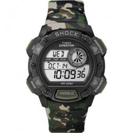 TIMEX T49976 MEN'S EXPEDITION BASE SHOCK ALARM INDIGLO DIGITAL WATCH