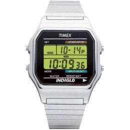 TIMEX T78587 MEN'S SILVER TONE STAINLESS EXPANSION WATCH