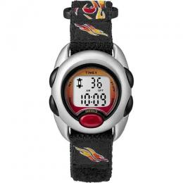 TIMEX T78751 KIDS TIME MACHINES FLAMES DIGITAL FABRIC STRAP WATCH