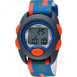 TIMEX T7C129 KID'S TIME MACHINES CHRONO MULTI-COLOURED NYLON STRAP WATCH