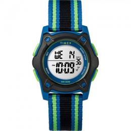 TIMEX T7C260 TIME MACHINE KID'S DIGITAL DOUBLE LAYER FABRIC STRAP WATCH