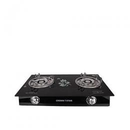 Crown Star Crown Star 2 Burner Glass Top -Table Gas Cooker
