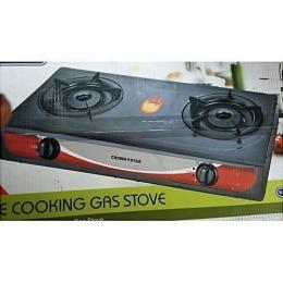 Crown Star 2 Burner Table Top Gas Cooker With Auto-ignition