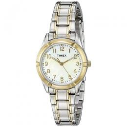 Timex T2P761 Women's MOP Dial Two-Tone Bracelet Small Size Watch
