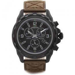 Timex T49986 Men's Expedition Chronograph Leather Medium Size Watch