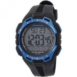 Timex T5K947 Men's Iron Man Marathon Blue Black Medium Size Watch